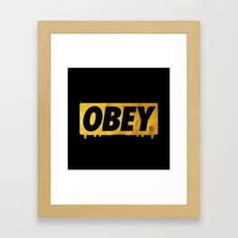 OBEY Bleeding Gold Framed Art Print