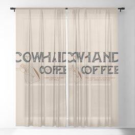 Cowhand Coffee - Rustic Sheer Curtain