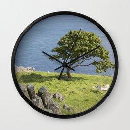 Rock and Tree, Murlough Beach; County Antrim; Northern Ireland Wall Clock