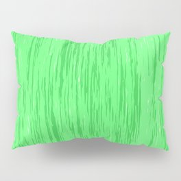Fresh green fibers, abstract rainfall, natural colors, forest theme texture, pattern Pillow Sham