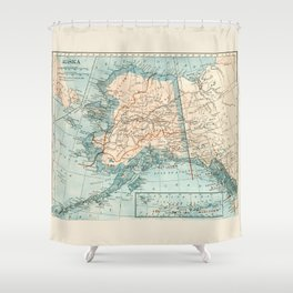 Vintage Alaska Shower Curtain