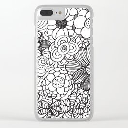 Floral vibe Clear iPhone Case