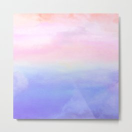 The Last Sunrise of a Long Voyage: Abstract Soft Oil Painting of Hope on the Sea Metal Print