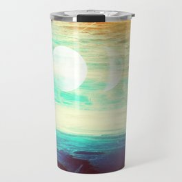 Lunar Phase Beach Travel Mug