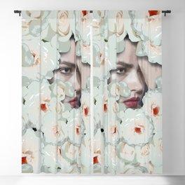 Flower woman Blackout Curtain