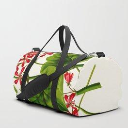 Joy Leaved Geranium Vintage Scientific Botanical Flower Illustration Hand Drawn Art Duffle Bag