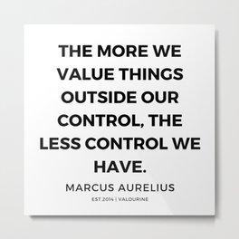 2   | Marcus Aurelius Quotes | 200107 Metal Print