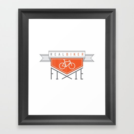Real Biker Framed Art Print