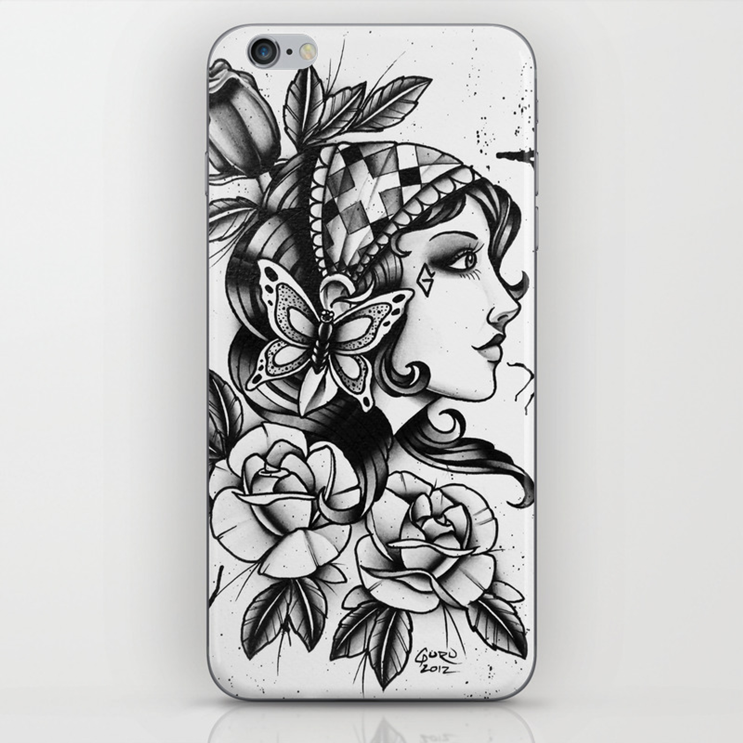 7a4379433721f Gipsy Girl - TATTOO iPhone Skin by gurumarques | Society6