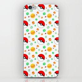 Pokémon candy and pokéballs iPhone Skin