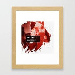 Gryffindor Nature Framed Art Print