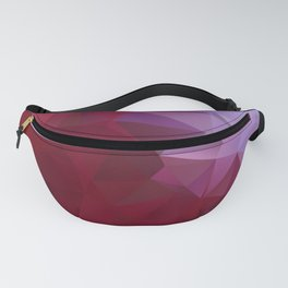 POPPY RED AND LILAC LOWPOLY Fanny Pack