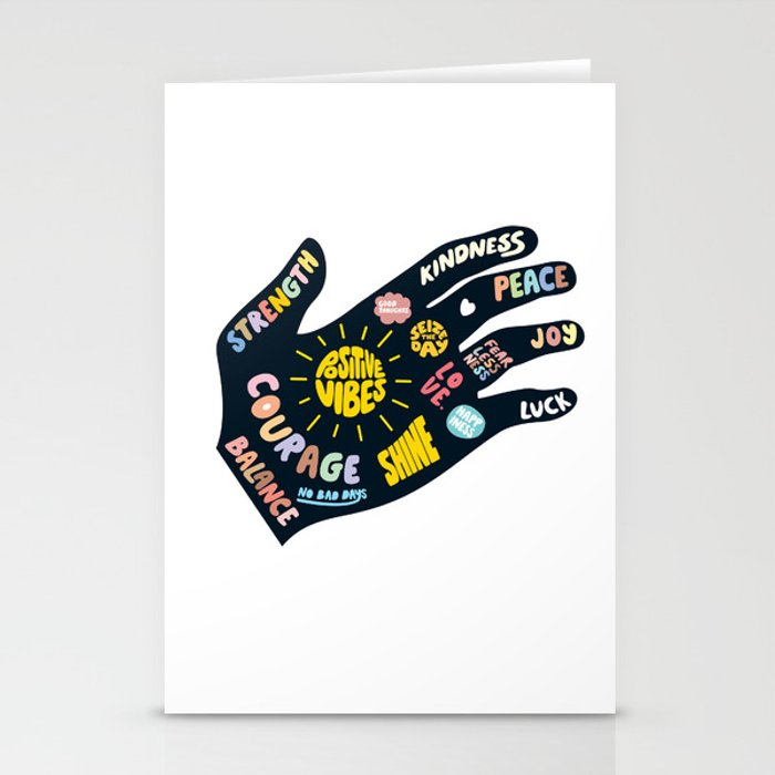 Positivity – Helping Hand Stationery Cards