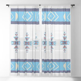 Native American pattern Sheer Curtain
