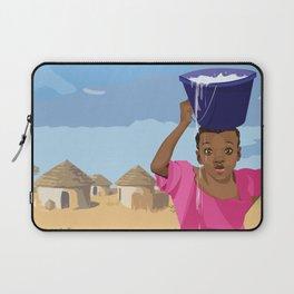 African Village Girl Laptop Sleeve