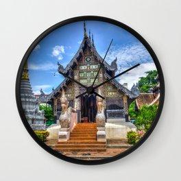 Chiang Mai Thailand Buddhist Temple Wall Clock