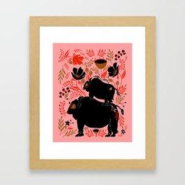 FOLK BUFFALO Framed Art Print