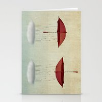 rain Stationery Cards featuring embracing the rain by Vin Zzep