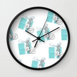 Blue Jewelry Box Wall Clock