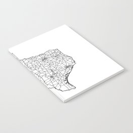Texas White Map Notebook