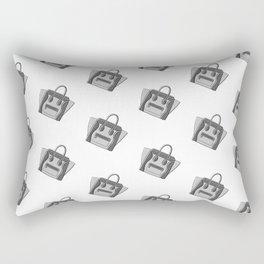 Grey Monotone Neutral Céline Vibes High Fashion Purse Illustration Rectangular Pillow
