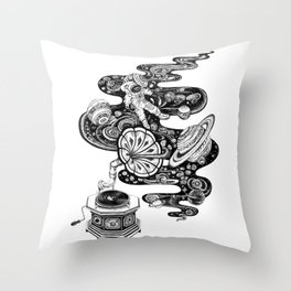 Space Music Throw Pillow