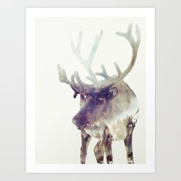 The Reindeer  Art Print