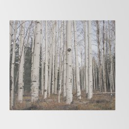 Trees of Reason - Birch Forest Throw Blanket