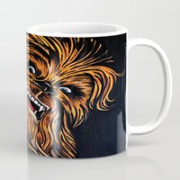 chewbacca Mugs featuring Chewbacca by Laura-A