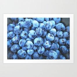 THE BLUE CAFE Art Print