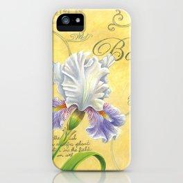 Purple and White Iris iPhone Case