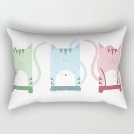 Traveling Tabbies: See Speak Hear Rectangular Pillow
