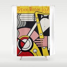 Roy Fox Lichtenstein, Aspen Winter Jazz 1967 Artwork, Men, Women, Kids, Posters, Prints, Bags, Tshir Shower Curtain