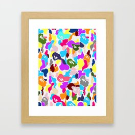 B APE colorful pattern Framed Art Print