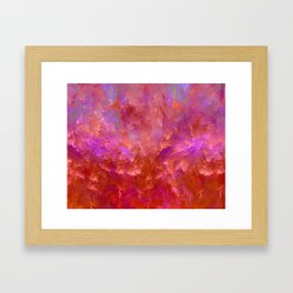 """""""Abstract Volcano Red Fire"""" Framed Art Print"""
