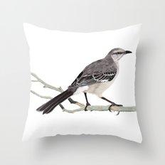 Northern mockingbird - Cenzontle - Mimus polyglottos Throw Pillow