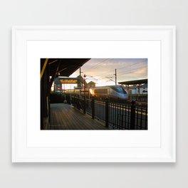 Acela Afternoon Flyby Kingston Railroad Station Framed Art Print