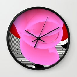 It's Red Rose. Abstract Art. Wall Clock