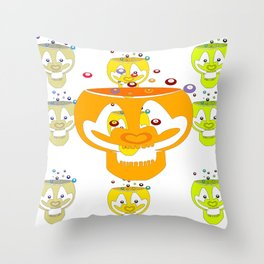 bubblead Throw Pillow