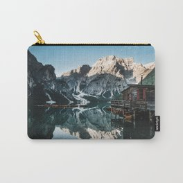 Sunrise at lake Braies in the Italian Dolomites Carry-All Pouch