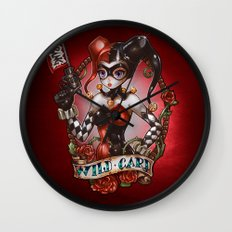 WILD CARD (blackout variant) Wall Clock