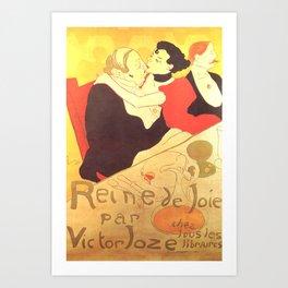 """Henri de Toulouse-Lautrec """"Reine de Joie"""" Art Print"""
