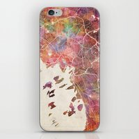 oslo iPhone & iPod Skins featuring Oslo by MapMapMaps.Watercolors