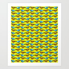 Butterflies (yellow 2) Art Print