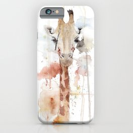 """Watercolor Painting of Picture """"Portrait of a Giraffe"""" iPhone Case"""