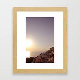 Sunset at Oia Framed Art Print
