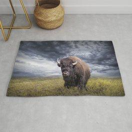 Plains Buffalo on the Prairie Rug