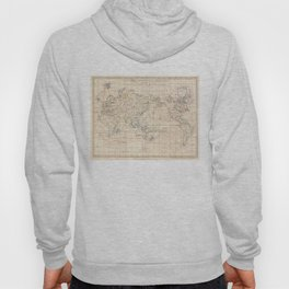 Vintage Map of The World (1799) Hoody