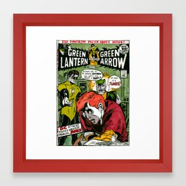 Green Lantern Drugs Issue Framed Art Print