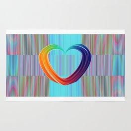 Fractal Art- Pattern Art- Heart Art- Blue Hearts-Pixxie Stixx- LGBT Art- Love- Healing Energy Art Rug